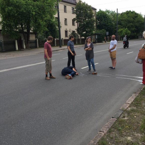 Vairuotojo ir keleivio konfliktas Kaune