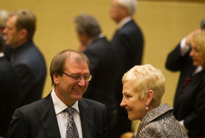 Viktoras Uspaskich ir Irena Degutienė