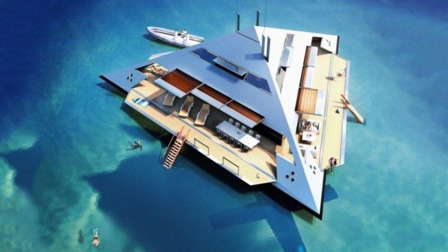 """HYSWAS Tetrahedron Super Yacht"" jachta"