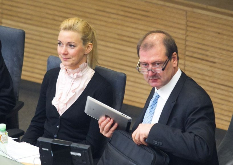 Vitalija Vonžutaitė ir Viktoras Uspaskichas
