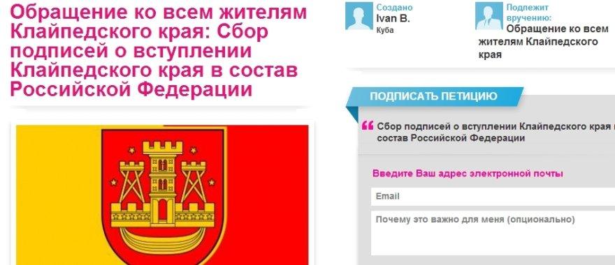 Rusija nori Klaipėdos krašto