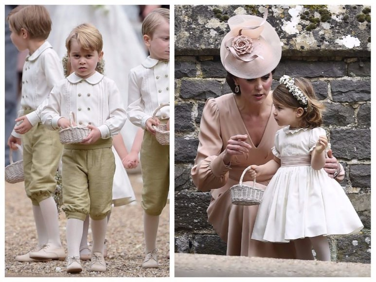 Princas George'as ir princesė Charlotte tetos Pippos Middleton vestuvėse