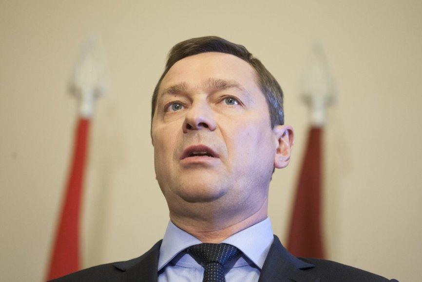 Artūras Zuokas Vilniaus rotušės Mero menėje.