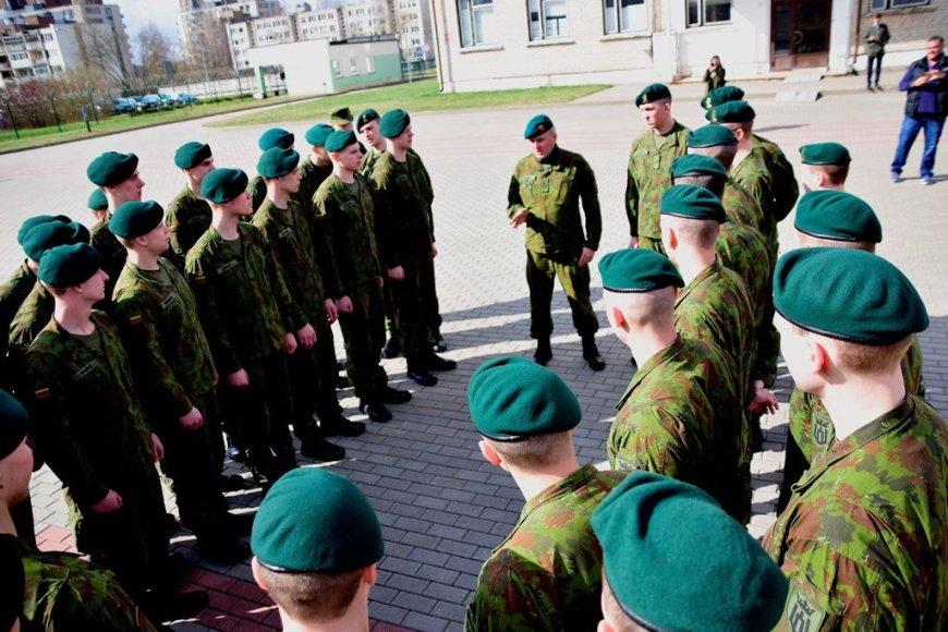 Išleistuvės Štabo batalione Vilniuje