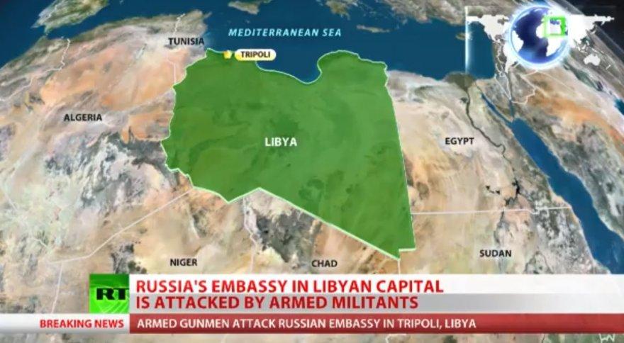 Tripolyje užpulta Rusijos ambasada.