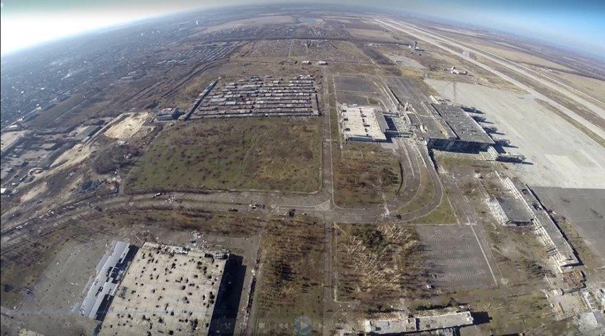 """Internete – """"mirusios Donecko žemės"""" vaizdai iš paukščio skrydžio."""
