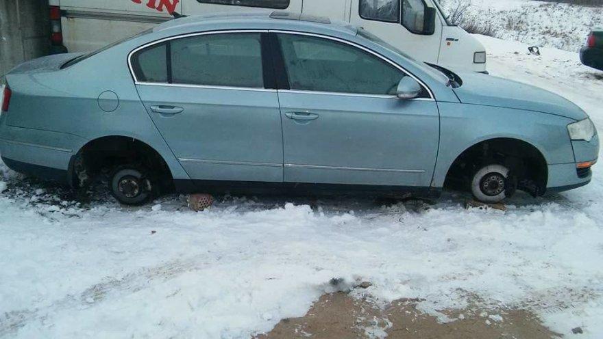 Apvogtas automobilis VW