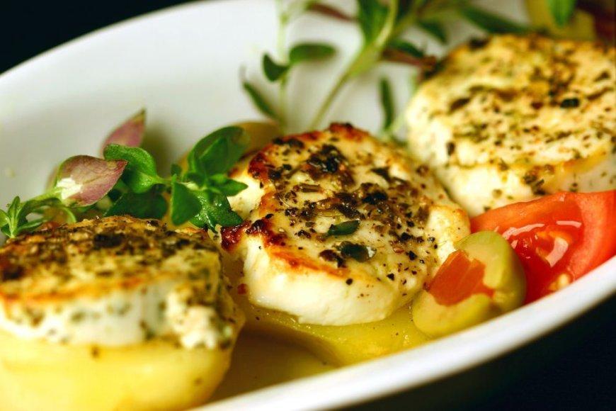 Bulvės su varškės sūriu