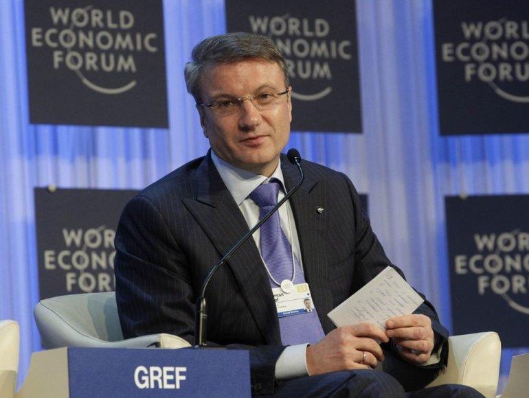 """Rusijos banko """"Sberbank"""" vadovas Germanas Grefas"""