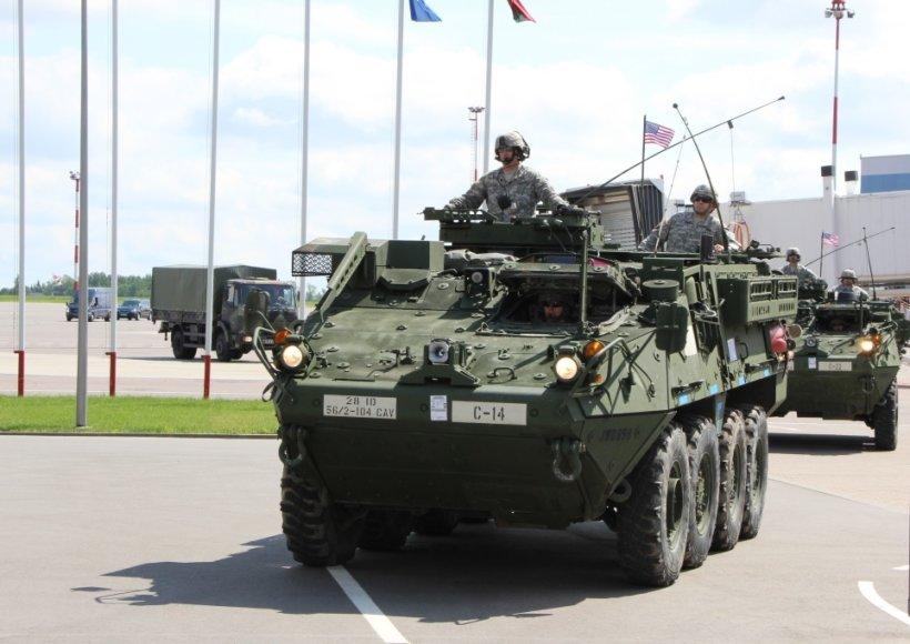Į Lietuvą atvyksta nauja JAV karių pamaina su sunkiąja kovine technika