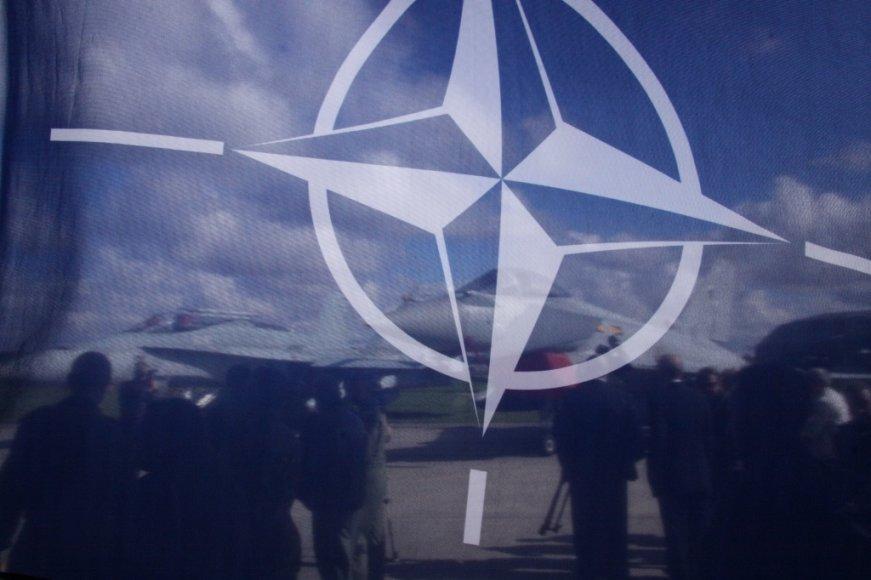 NATO oro policijos pasikeitimo ceremonija