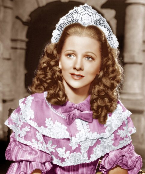 "Joan Fontaine 1944-ųjų filme ""Lady Dona"""