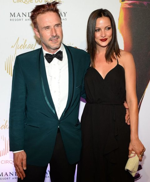 Davidas Arquette'as su savo mergina Christina McLarty