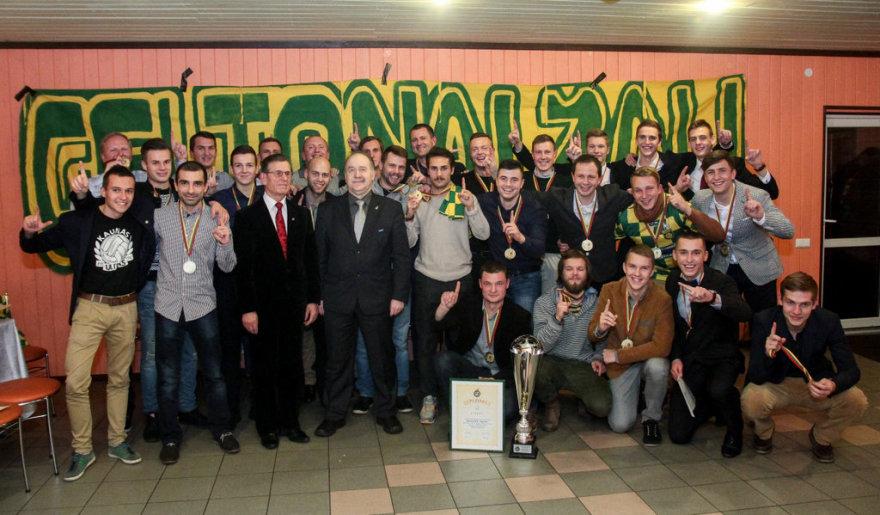 """FBK """"Kauno"""" futbolininkai - antrosios šalies lygos laimėtojai"""