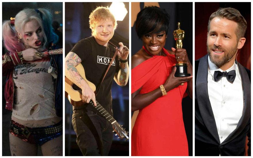 """Margot Robbie filme """"Savižudžių būrys"""", Edas Sheeranas, Viola Davis ir Ryanas Reynoldsas"""