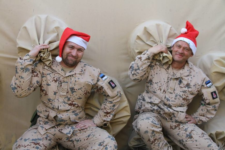 Estijos kariai Afganistane Kalėdoms gavo dovanų iš namų
