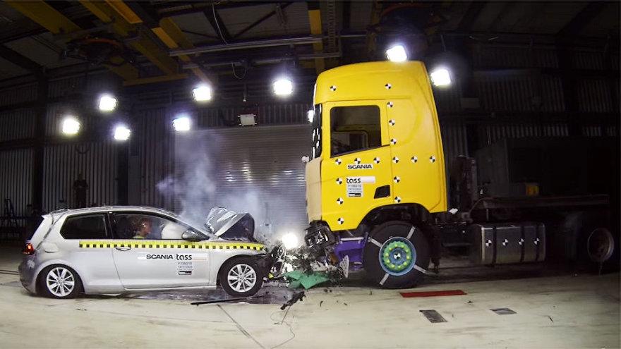 """Scania"" saugumo bandymai"