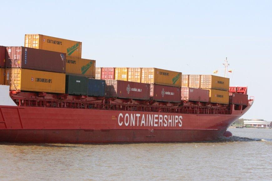 Gegužę Klaipėdos uoste, lyginant su tuo pačiu mėnesiu praėjusiais metais, sumažėjo konteinerių krova.