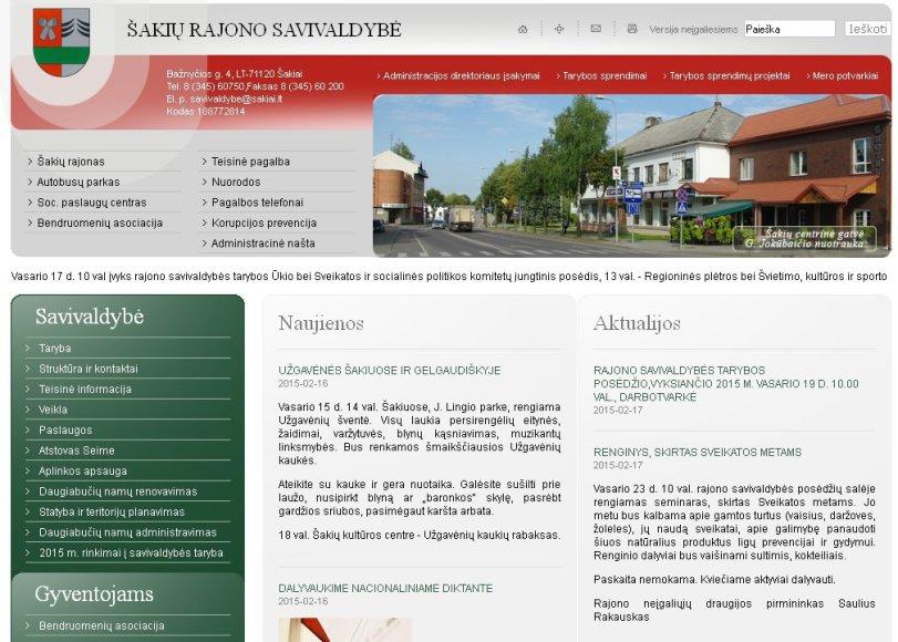 Šakių savivaldybės interneto svetainė