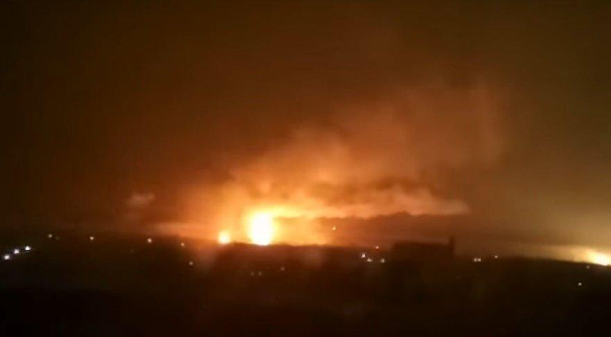 Šaudmenų sandėlio gaisras Charkovo srityje