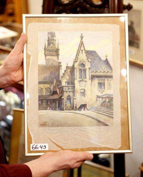 Aukcione parduotas Adolfo Hitlerio paveikslas.