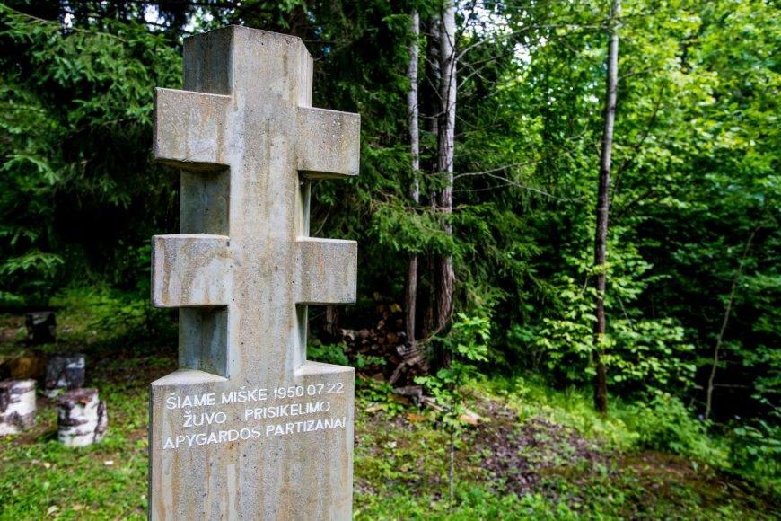 Atstatytas partizanų bunkeris Daugėliškių miške