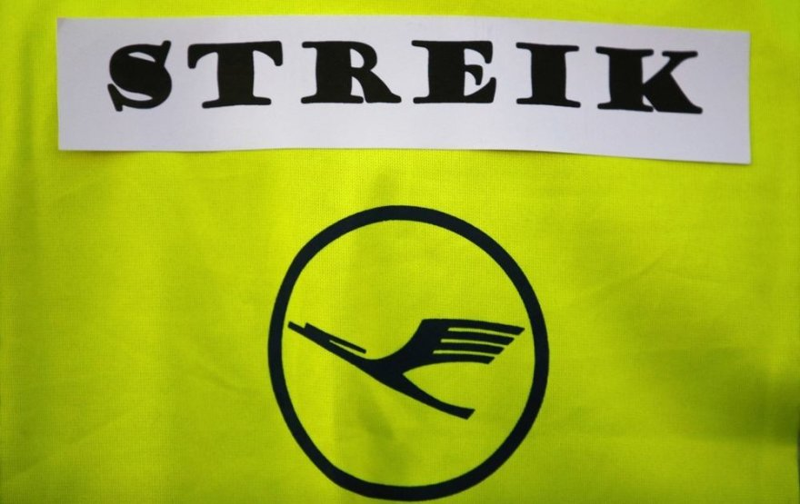 """""""Lufthansa"""" streikas"""
