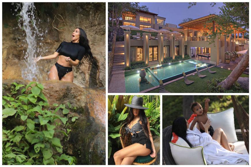 Kardashianų atostogos Kosta Rikoje