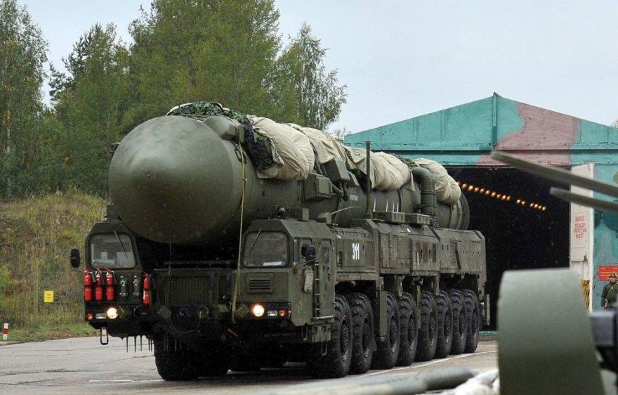 """Rusijos termobranduolinė tarpžemyninė balistinė raketa RS-24 """"Jars"""""""