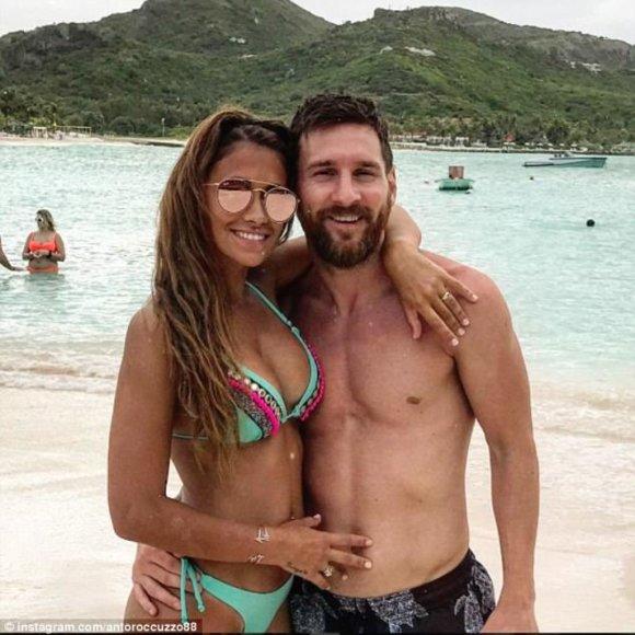 Lionelis Messi su žmona Antonella