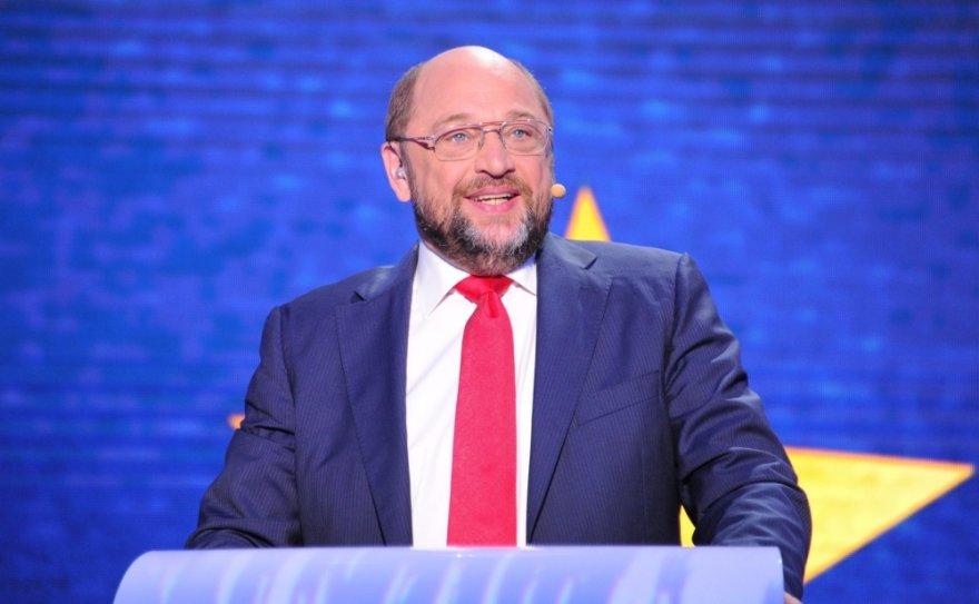 Socialistų kandidatas, Europos Parlamento pirmininkas Martin Schulzas