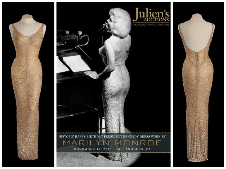 Marilyn Monroe suknelė, kurią vilkėdama ji sveikino prezidentą su gimtadieniu