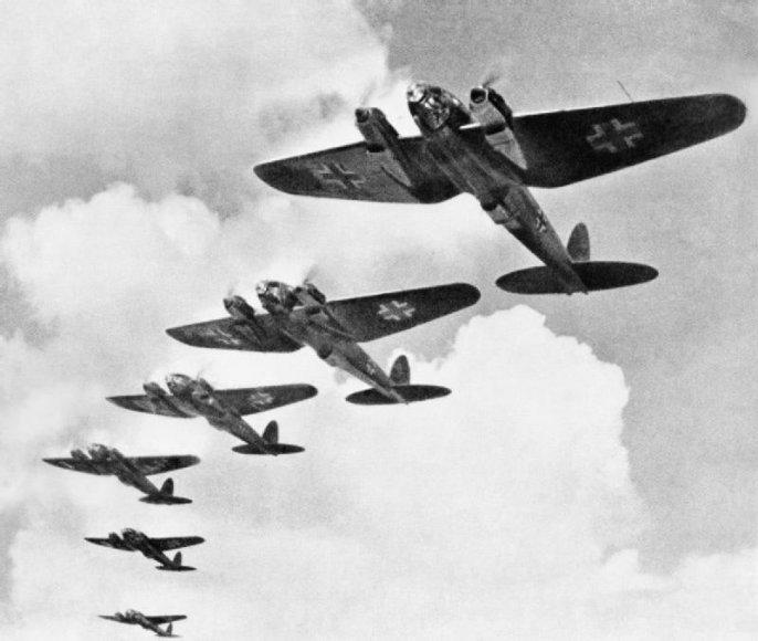 Bombonešiai Heinkel He 111 mūšio dėl Britanijos metu