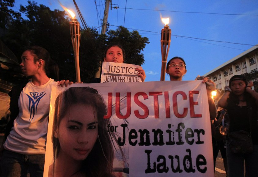 Protestas prieš Jennifer Laude nužudymą Filipinuose
