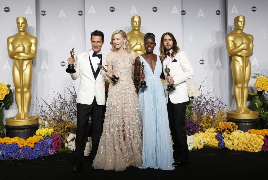 Matthew McConaughey, Cate Blanchett, Lupita Nyong'o ir Jaredas Leto