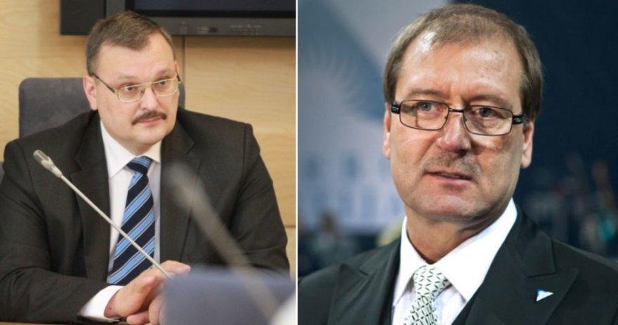 Kęstutis Daukšys (kairėje) ir Viktoras Uspaskichas