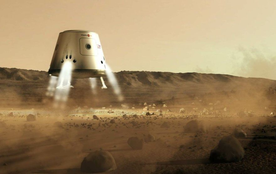 """""""Mars One"""" kapsulė leidžiasi Marse"""