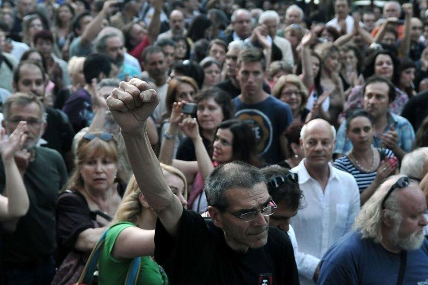Graikai protestuoja