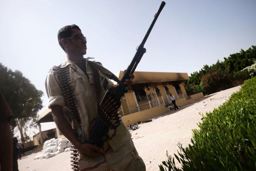 Sunaikintas JAV konsulatas Bengazyje