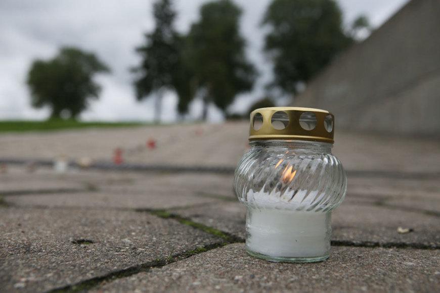 Žvakė prie IX forto muziejaus