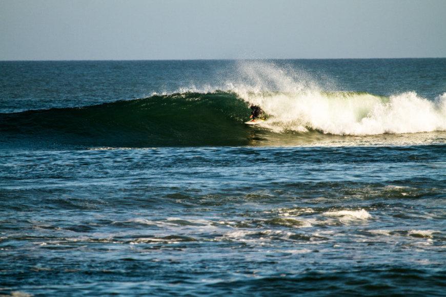 Skorpionų įlankoje (Scorpion Bay, Punta Juanico) lūžta antra ilgiausia banga pasaulyje.
