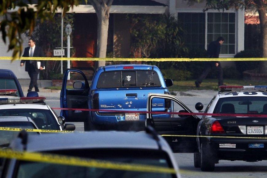 Los Andželo policija, ieškodama Christopherio Jordano Dornerio, per klaidą apšaudė ne tą automobilį.