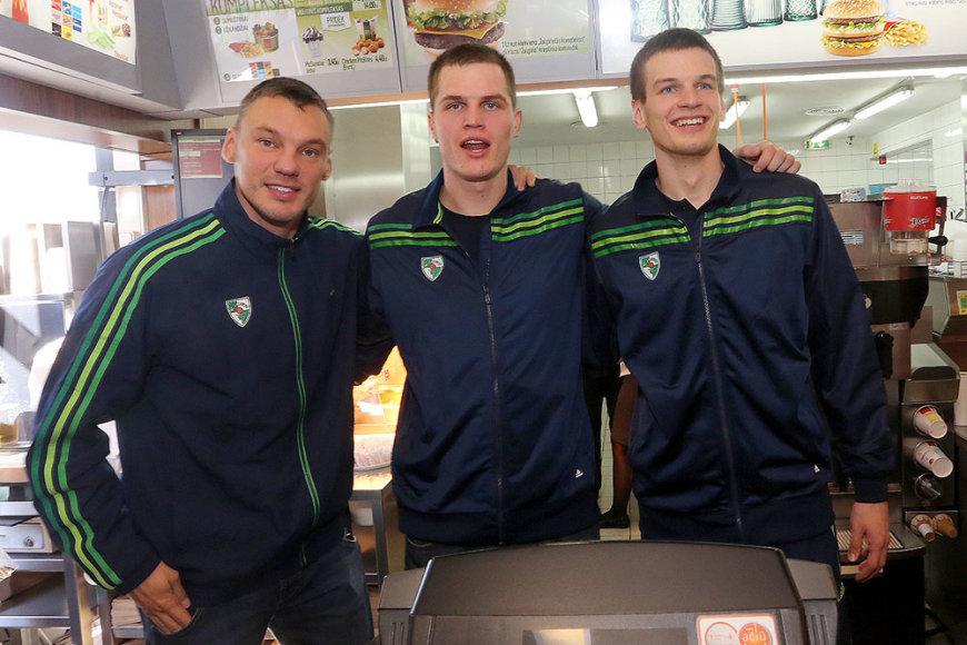 Šarūnas Jasikevičius, Vytenis Lipkevičius ir Tomas Dimša