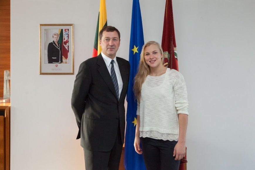 Rūta Meilutytė ir Artūras Zuokas