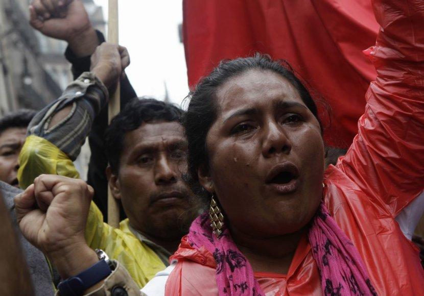 Meksiko policija susirėmė su streikuojančiais mokytojais