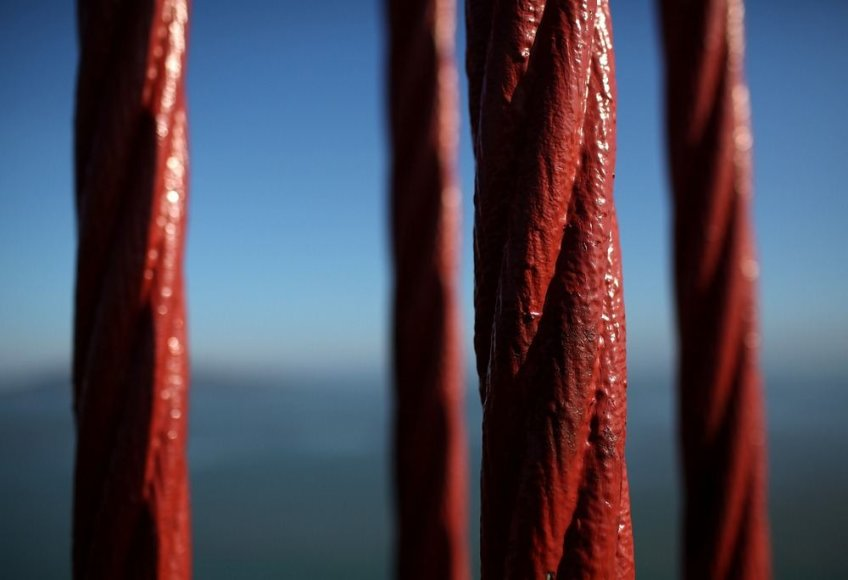 Aukso Vartų tilto kabeliai