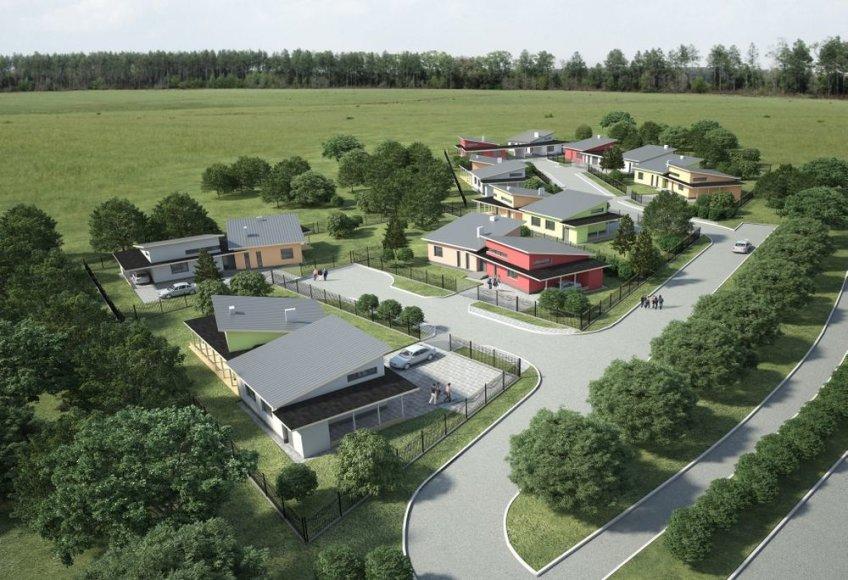 """Naujas individualių namų kvartalas """"Žiedas"""" Panevėžyje"""