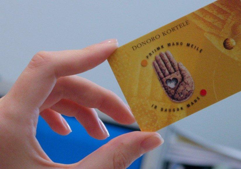 Donoro korteles Lietuvoje turi apie 15 tūkst. žmonių.