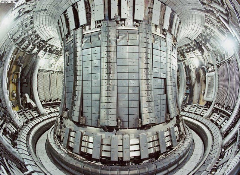 Tokamako tipo reaktorius iš vidaus