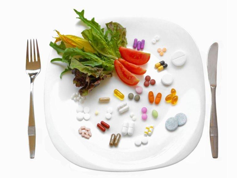 Sveikas maistas prieš tabletes